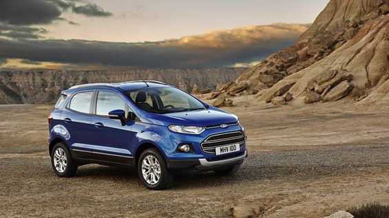 Ford EcoSport Exterior in Kinetic Blue