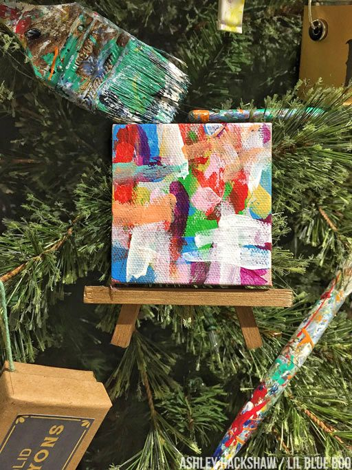 Vintage Art Supplies On A Christmas Tree Michaels Makers