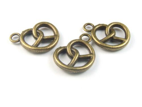 1 Anhänger, Bretzel, 18×16 mm, bronzefarben | Your #1 Source for Jewelry and Accessories