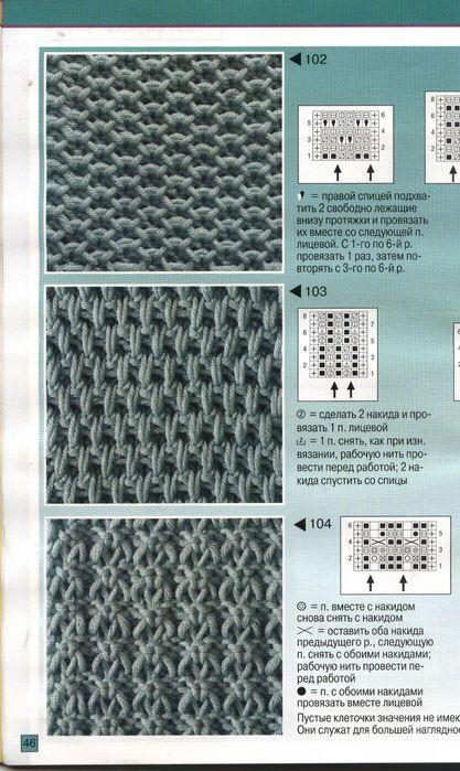Красивые ажурные узоры для вязания спицами со схемами и