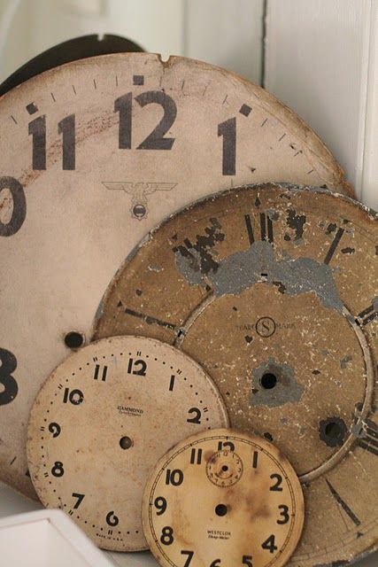 Vintage clock faces - oh, what I could do with these!