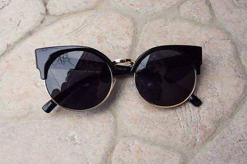 iEmma Fashion: Vintage Inspired Round Circle Cat Eye Sunglasses 8785