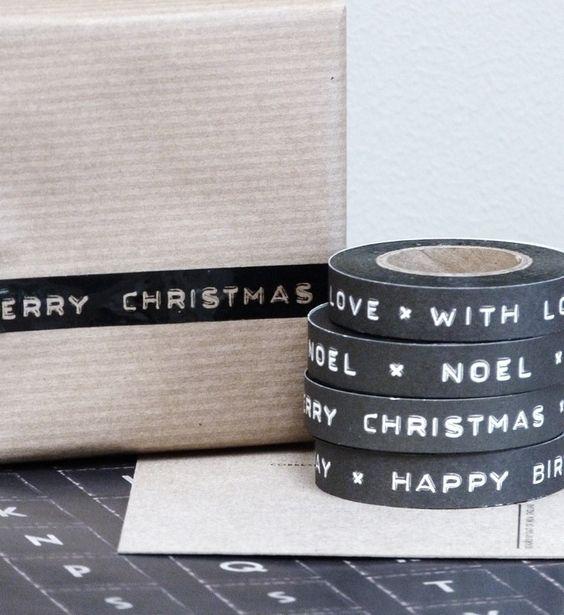 Happy Christmas Masking Tape Xmas Decoration