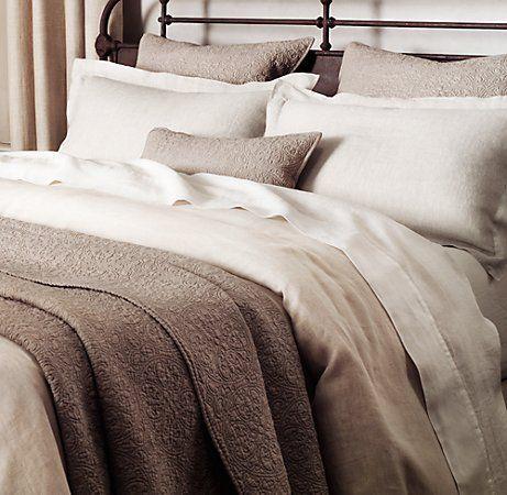Vintage-Washed Belgian linen sheets