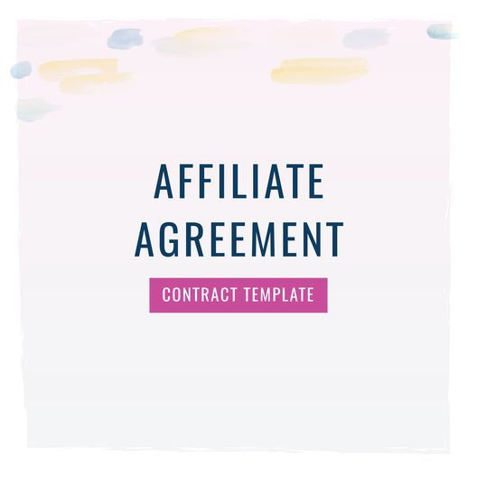 Affiliate Agreement Contract Template Templates How To
