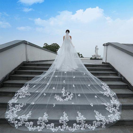 velo cattedrale, cathedral veil, velo da sposa