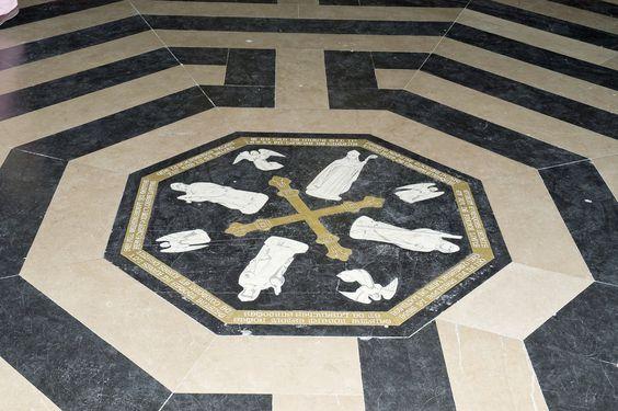 Amiens La Cathédrale Gothique (13ème siècle) Le labyrinthe