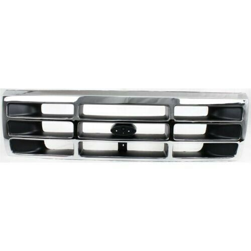 New Grille Chrome Black Front For Ford F 350 1992 1997 Fo1200173 2 Door 4 Door Keystoneautomotiveoperations Ford F150 Ford F Series Chrome