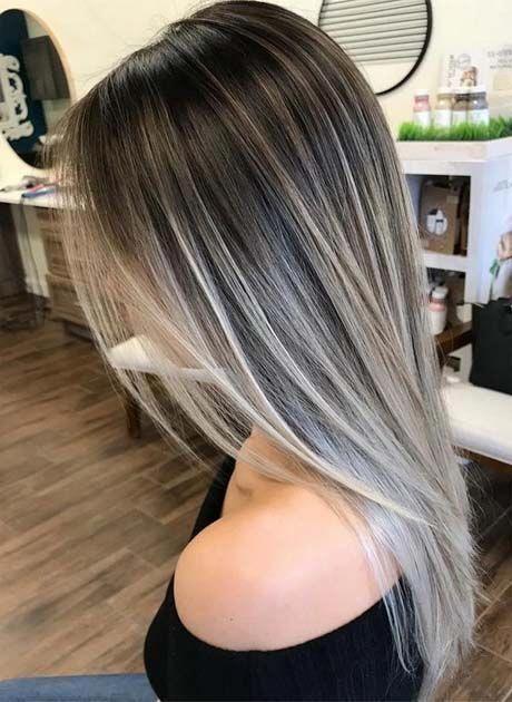 Ash Blonde Highlights On Dark Brown Hair In 2020 Blonde Balayage Blonde Hair Color Ash Blonde Highlights