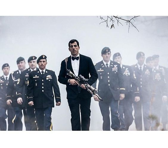 A Green Berets wedding photo. Truly manly