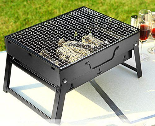 Debon Foldable Barbecue Charcoal Grill Portable Lightweight Bbq Tools For Outdoor Cooking Camping Hiking Picnics Tailg Bbq Tools Outdoor Cooking Charcoal Grill
