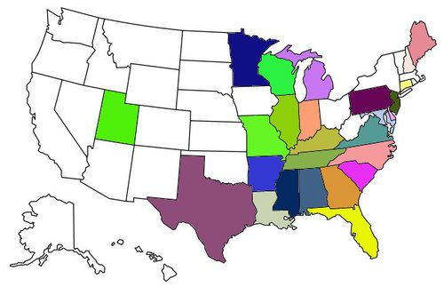 My Visited States Map | Us state map, State map, United ...