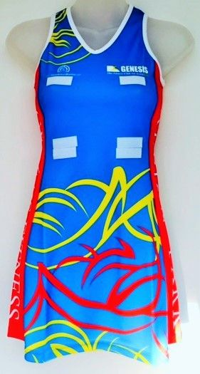A great A-Line netball dress we designed for Albion Park netball club, visit www.custom-made-sportswear.com to design your own A-line netball dress in a few easy steps