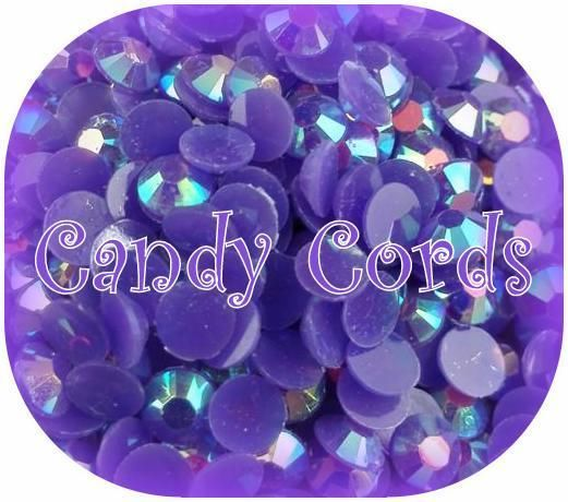 4mm Stunning Purple AB Jelly Rhinestones Flatback Embellishments Nail Art