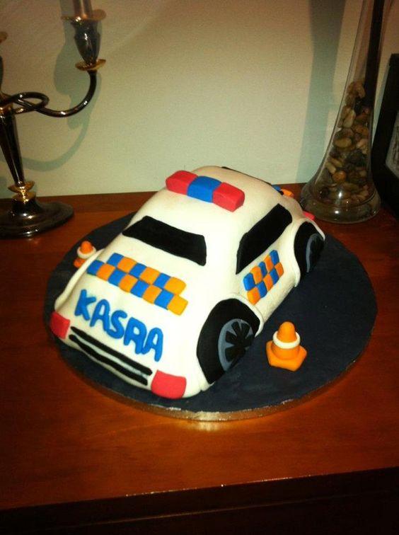 police car cake $100