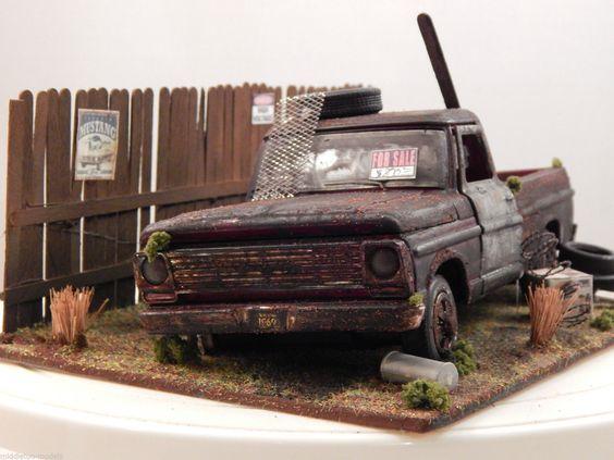 1 24 1 25 Barn Garage Diorama For Sale On Ebay: 1/24 Ford F-100 Pickup 1969 Barn Find Diorama Code 3