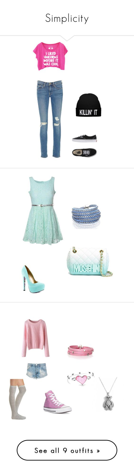 """""""Simplicity"""" by kaetheturtle on Polyvore featuring Frame Denim, Vans, women's clothing, women's fashion, women, female, woman, misses, juniors and Glamorous"""