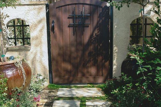Spanish Style Wood Fences And Gates Custom Wood Gates
