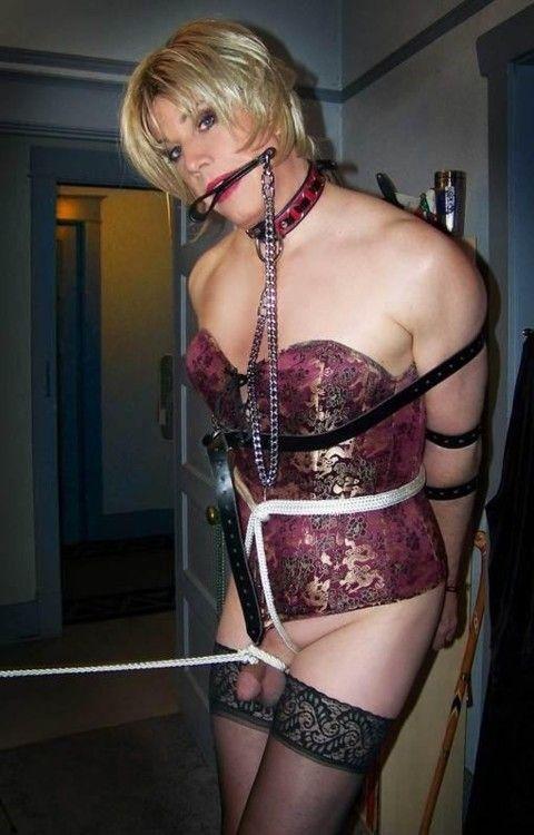 The crossdresser in bondage she nice