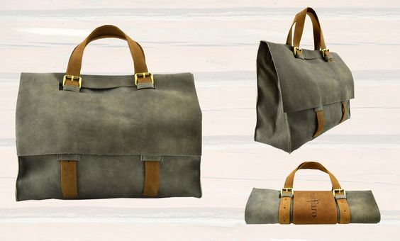 Markiaro #Briefcase made in soft leather. You can folding the bag for easy carry! Discover all colors available on MarteModena: http://www.martemodena.com/shop/187-markiaro