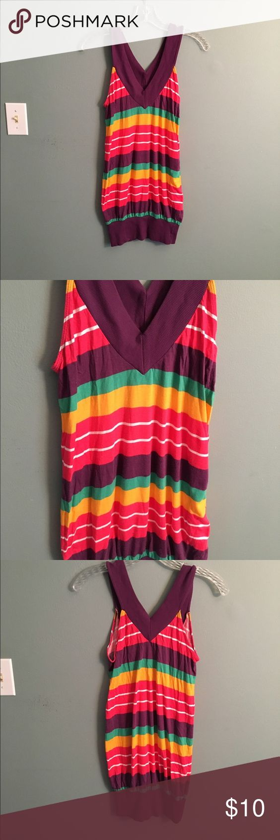 Striped top Nwot. Never worn. Size small. Tunic length Tops Tank Tops