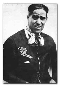 "Tazio Giorgio Nuvolari (Italian pronunciation:[ˈtattsjo ˈdʒordʒo nuvoˈlari]; 16 November 1892 – 11 August 1953) was an Italian motorcycle and racecar driver, known as Il Mantovano Volante (The Flying Mantuan) or Nivola. He was the 1932 European Champion in Grand Prix motor racing. Dr Ferdinand Porsche called Nuvolari ""The greatest driver of the past, the present, and the future.""."
