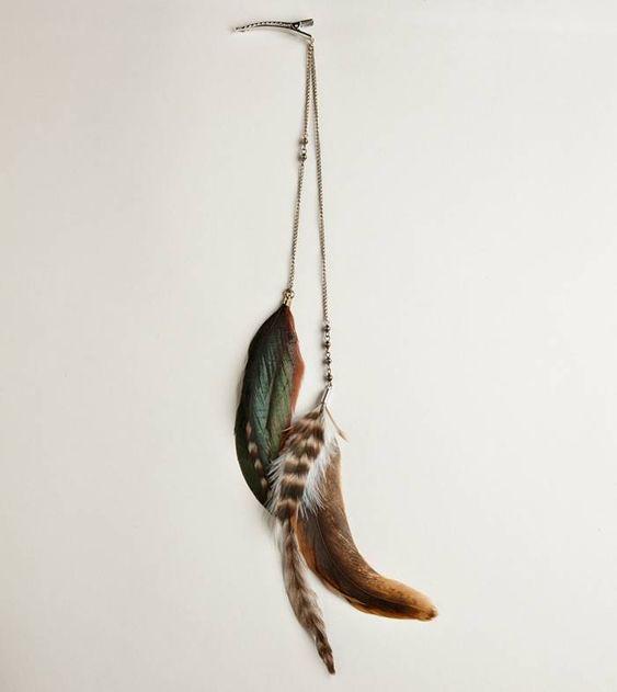 feather hair clips!