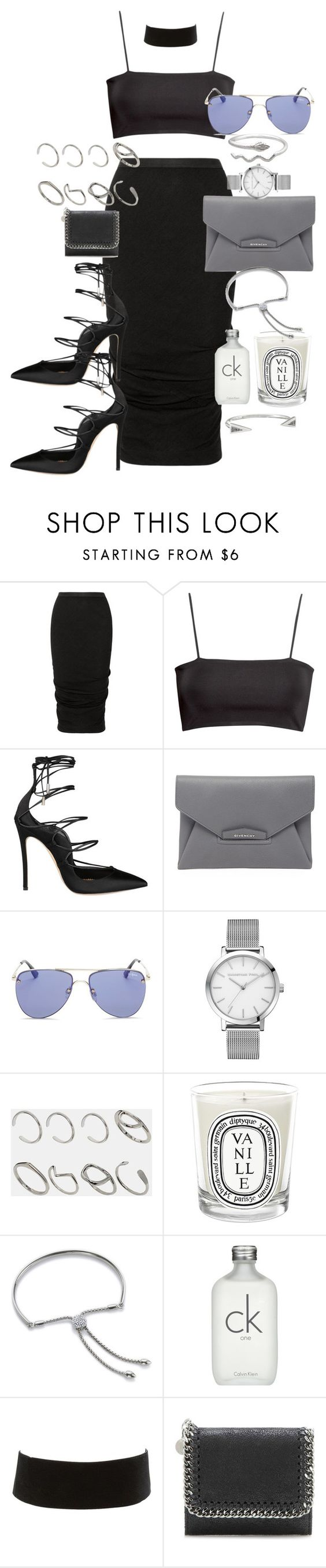 """Anything can happen"" by marissa-91 ❤ liked on Polyvore featuring Rick Owens, H&M, Dsquared2, Givenchy, Le Specs, ASOS, Diptyque, Monica Vinader, Calvin Klein and Charlotte Russe"