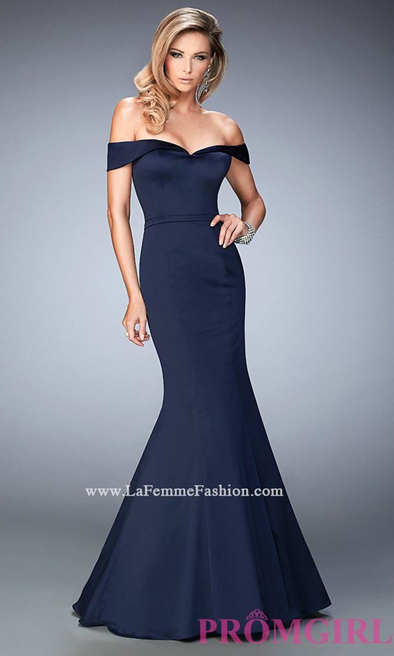 La Femme Off the Shoulder Prom Dress Style: LF-22149 - Prom 2016 ...