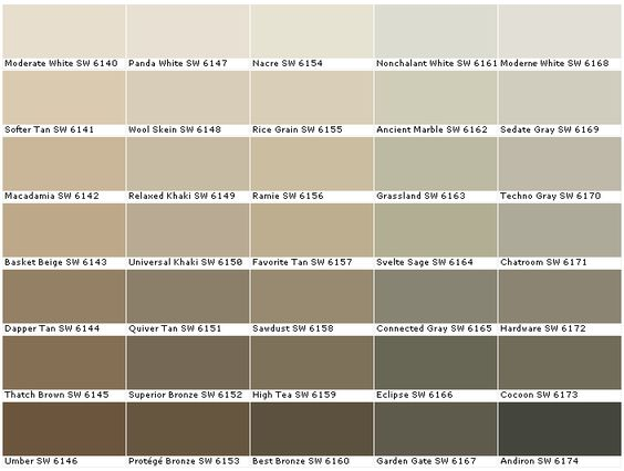 sherwin williams sw6140 moderate white sw6141 softer tan sw6142 macadamia sw6143 basket beige. Black Bedroom Furniture Sets. Home Design Ideas