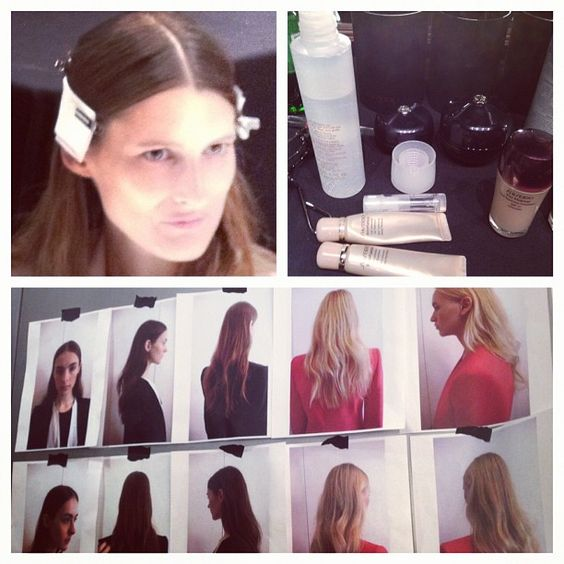 Hair at Narciso Rodriguez was free spirited but sophisticated. #nyf