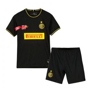 Kids Youth Inter Milan 19 20 Wholesale Third Cheap Soccer Kit Sale O778 Kids Suits Soccer Kits Kids Soccer