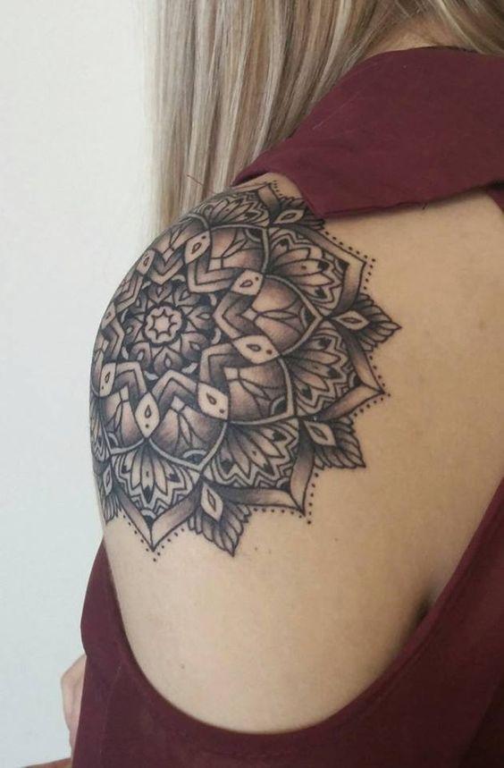 Mandala Design Tattoo Mandalatattoo Shoulder Tattoos For Women Mandala Tattoo Shoulder Shoulder Tattoo