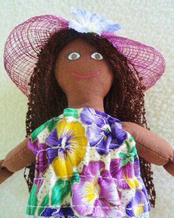 Summer Girl Doll  - African American Doll - Cloth by JoellesDolls, $30.00