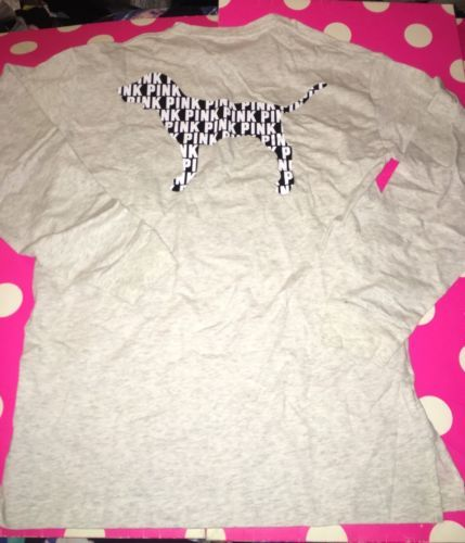 #LastMinute - BN Victoria's Secret PINK GIANT DOG Varsity Crew MARL ASH GREY LONG SLEEVE XS  http://dlvr.it/MvRxHk - http://Ebaypic.twitter.com/H7Habfhdiw