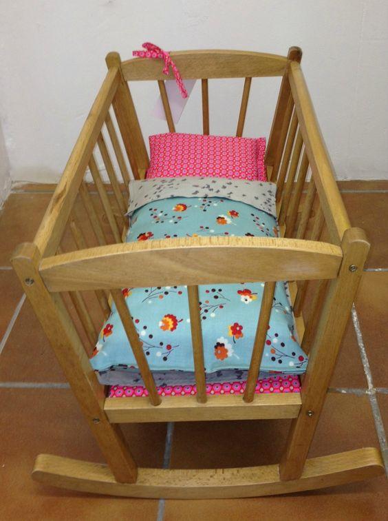 berceau de poup e et linge de lit france duval stalla petit pan et liberty. Black Bedroom Furniture Sets. Home Design Ideas