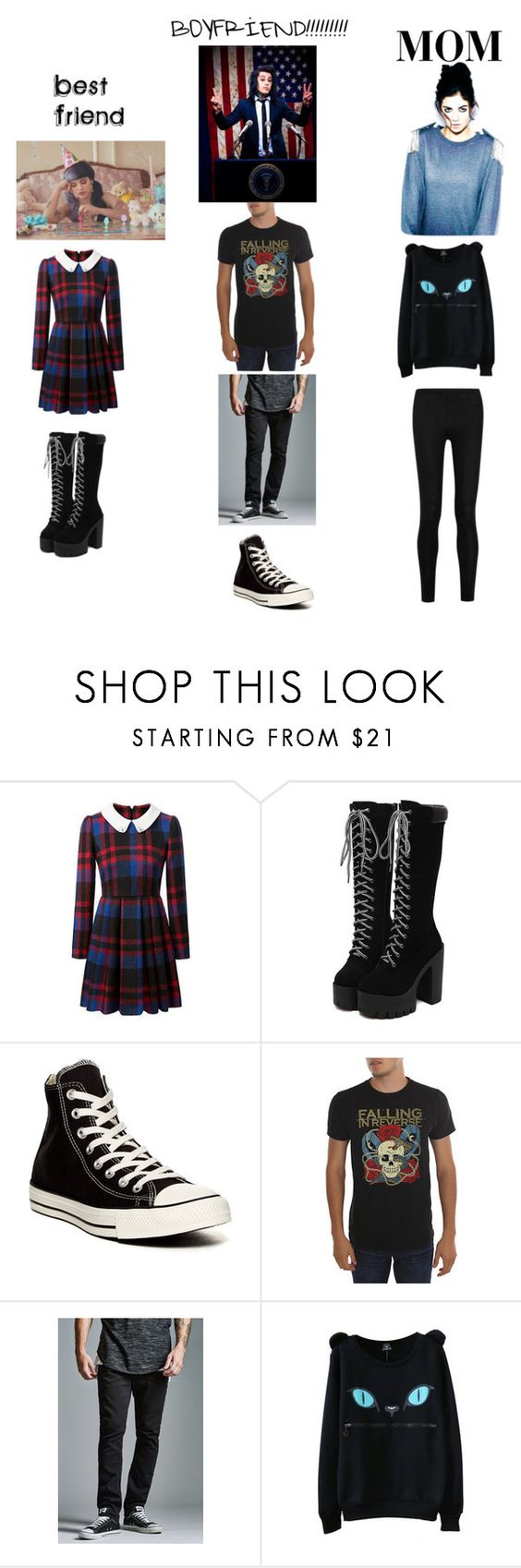 """""""MY DREAM ( KELLY)"""" by twinz4ever ❤ liked on Polyvore featuring Converse, Bullhead Denim Co. and Donna Karan"""