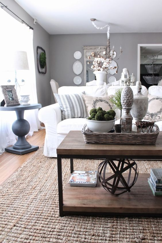 Love to do a gray/white/neutral palate inside.: