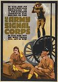 WWI U.S. Army Signal Corps, American war poster