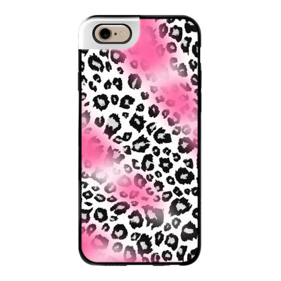 iPhone 6 Plus/6/5/5s/5c Metaluxe Case - Pink and White Leopard Animal... ($50) ❤ liked on Polyvore featuring accessories, tech accessories, iphone case, leopard iphone case, leopard print iphone case, print iphone case and animal print iphone cases