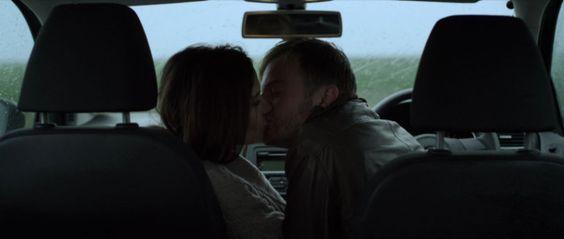 Rebecca Calder kissing car