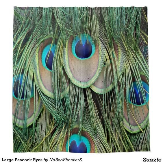 Large Peacock Eyes Shower Curtain