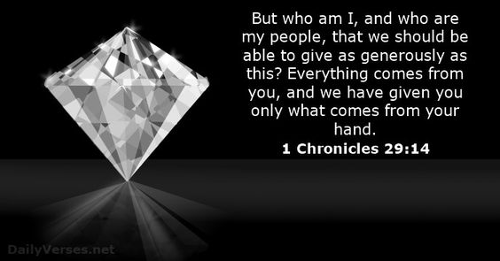 1 Chronicles 29:14 - dailyverses.net