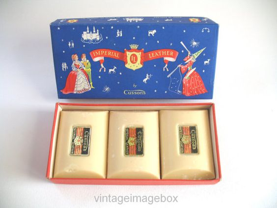 Cussons imperial leather soaps boxed vintage household for 1960s bathroom decor