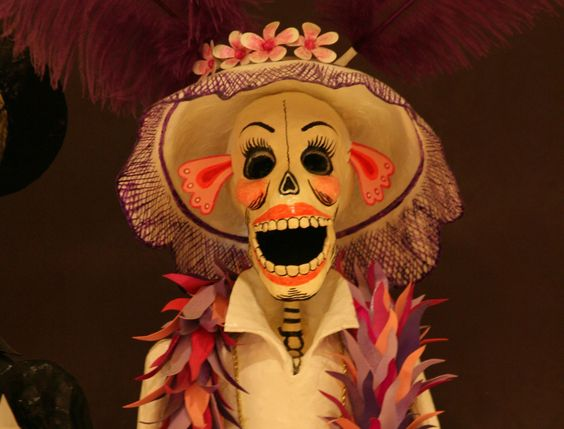A Día de los Muertos artifact in Chicago's National Museum of Mexican Art gift shop