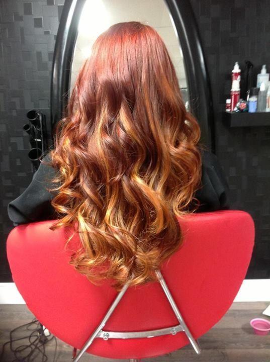 La Belle & La Tête Cheveux roux ombré!