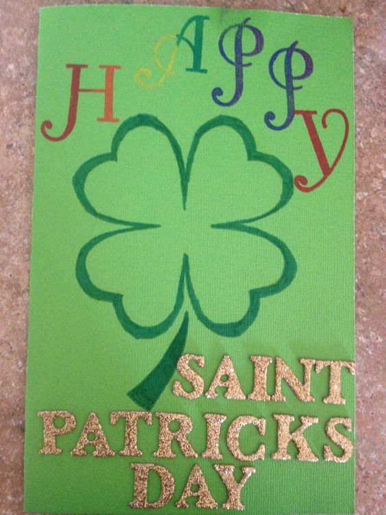 Saint Patrick's Day card I made