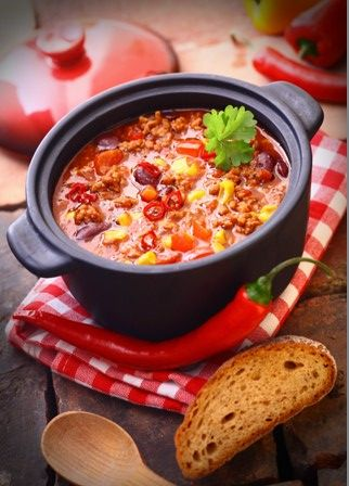 Pork Chilli with Beans - A one pot dish that you will eat over and over again, it's that good.  Use tenderloin of pork a really tender cut of pork and good value as there's no waste.  Because this serves 4 this is another one for the freezer - serves 4 - 294 calories per serving. http://www.amazon.co.uk/dp/B00DNJCCG0