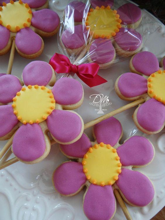 Cookies Decorados Tema Jardim  Flowers Cookies