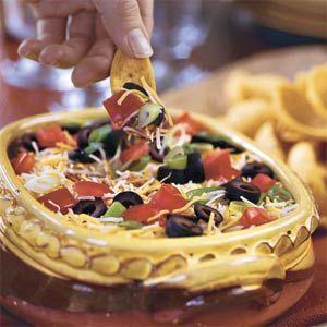Layered Spicy Black Bean Dip | MyRecipes.com
